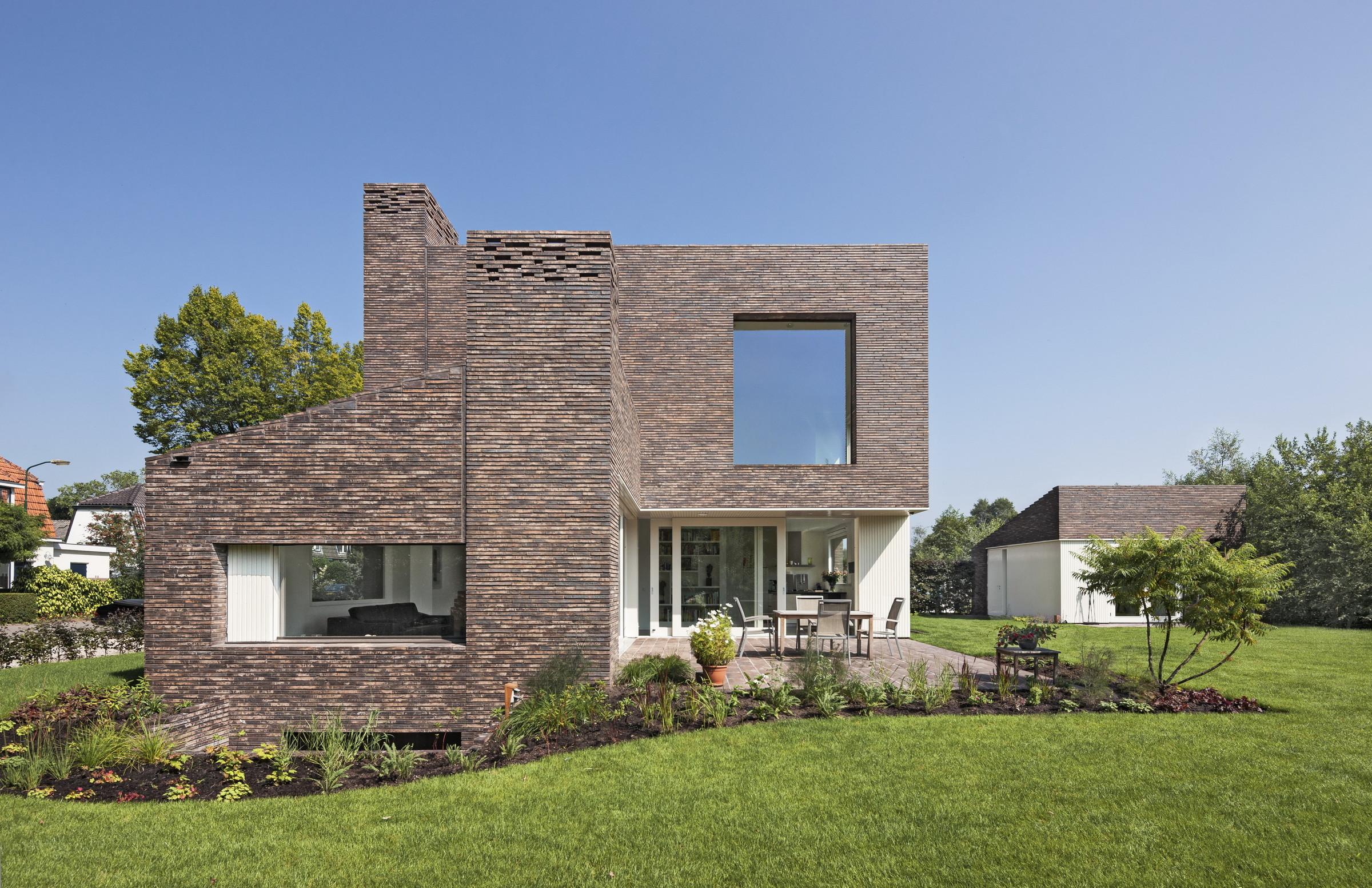 Baksteenhuis groenekan zecc architecten - Foto modern huis ...